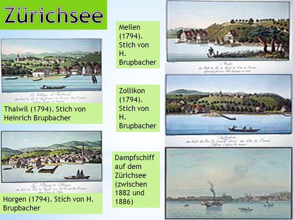 Zürichsee Meilen (1794). Stich von H. Brupbacher