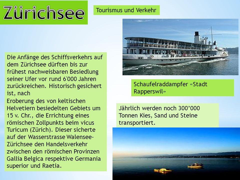 Zürichsee Tourismus und Verkehr