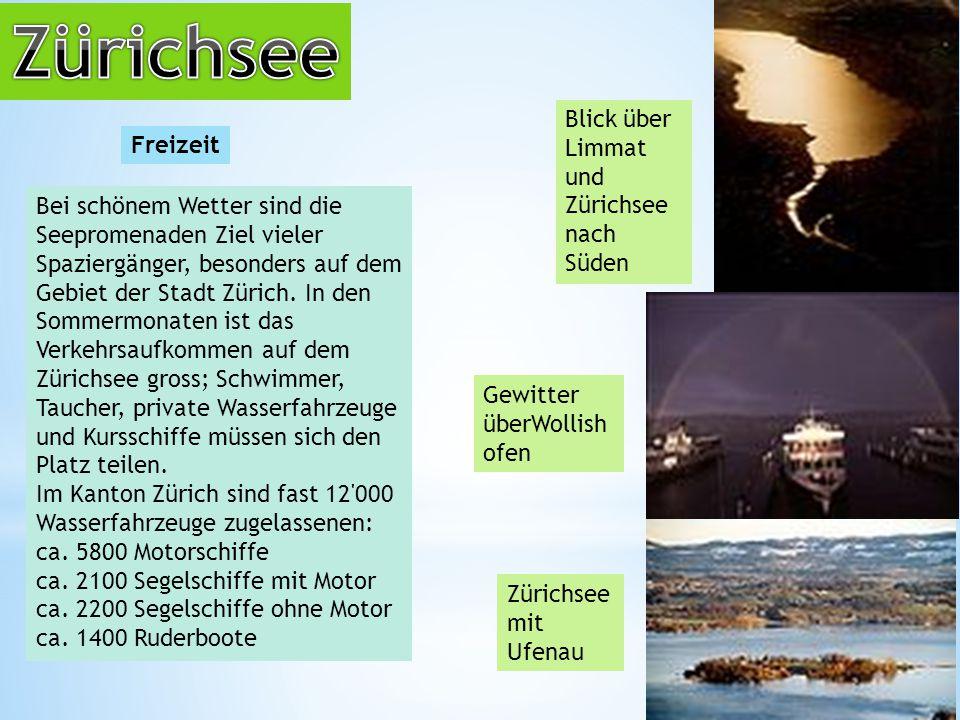 Zürichsee Blick über Limmat und Zürichsee nach Süden Freizeit