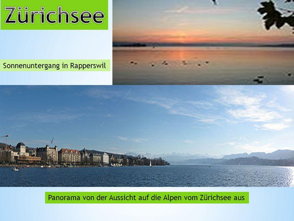 Zürichsee Sonnenuntergang in Rapperswil