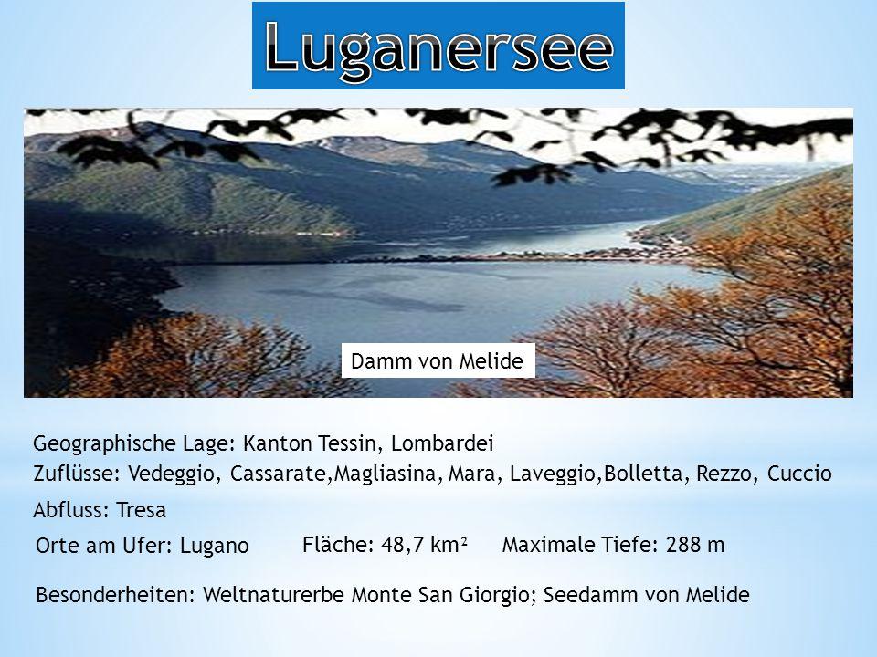 Luganersee Damm von Melide