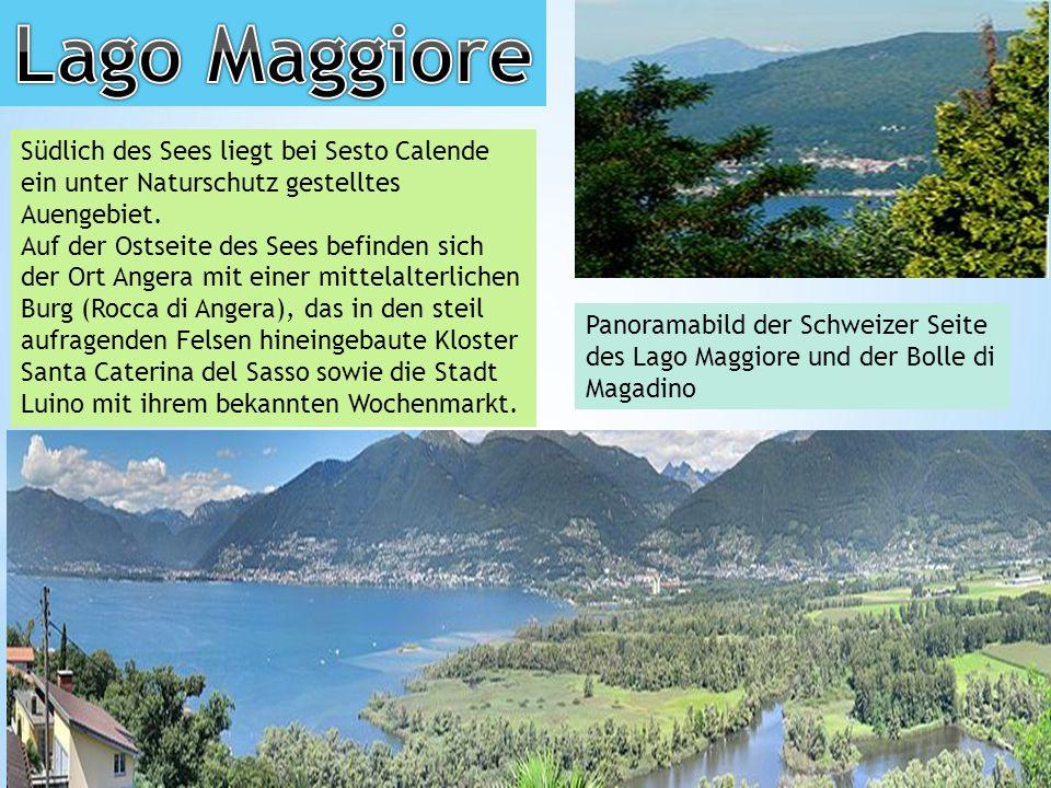 Lago Maggiore Südlich des Sees liegt bei Sesto Calende ein unter Naturschutz gestelltes Auengebiet.