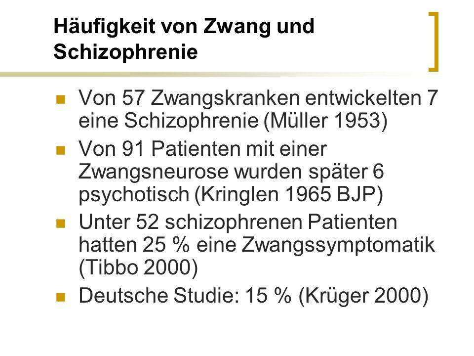 Häufigkeit von Zwang und Schizophrenie