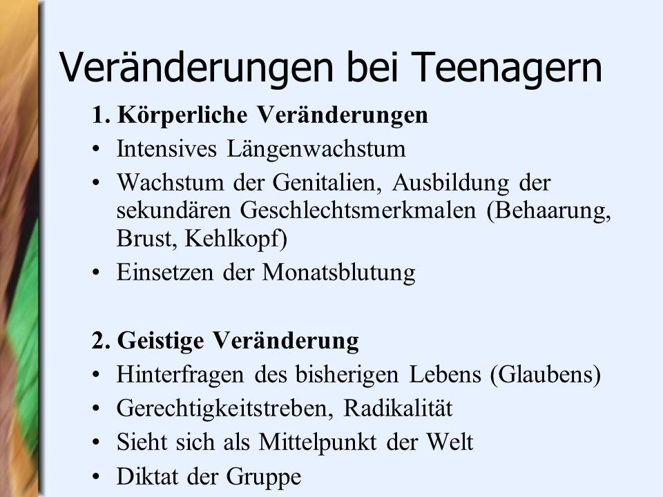 Veränderungen bei Teenagern