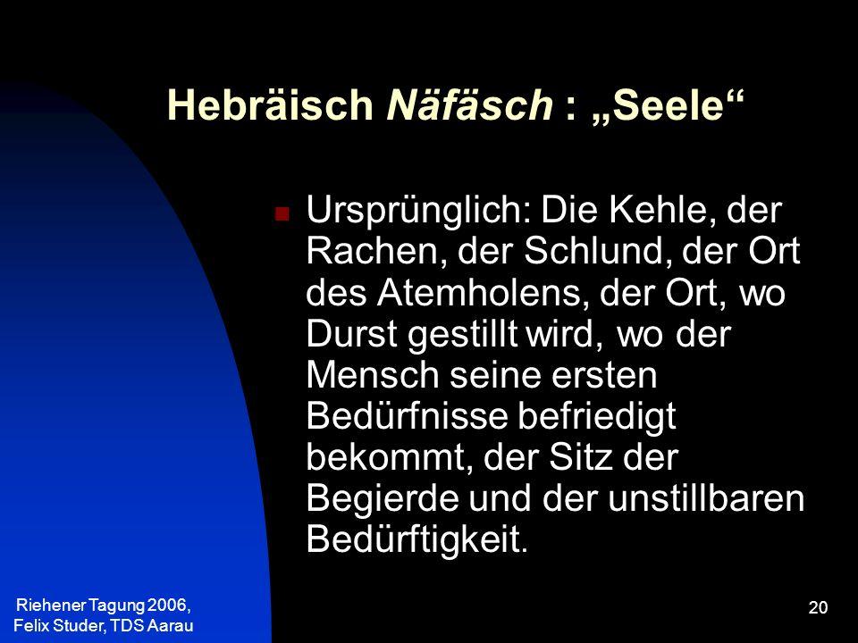 """Hebräisch Näfäsch : """"Seele"""