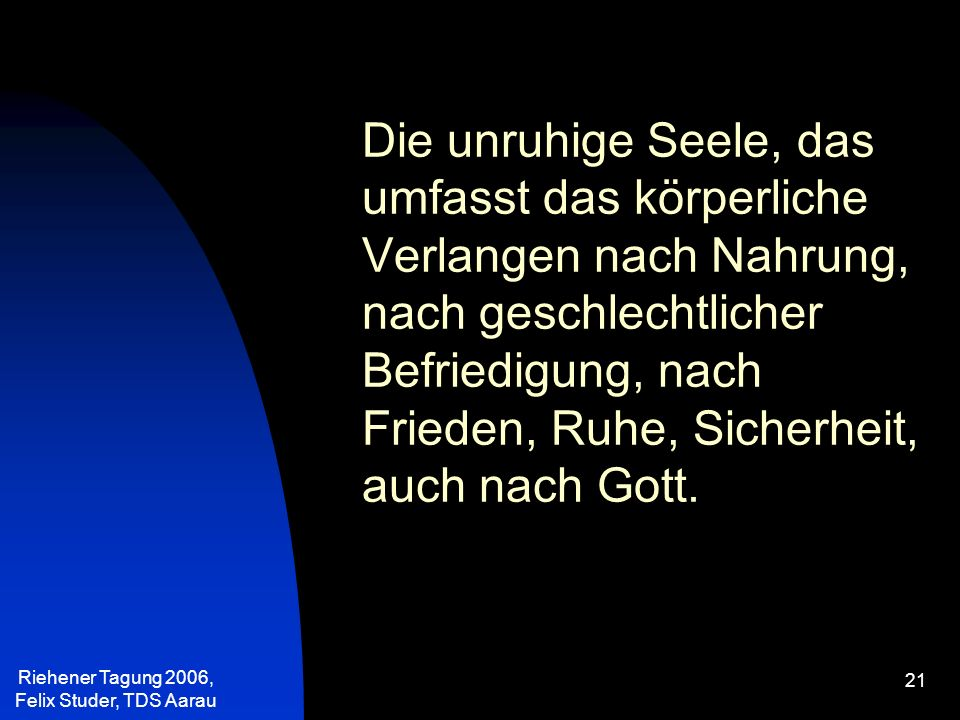 Riehener Tagung 2006, Felix Studer, TDS Aarau