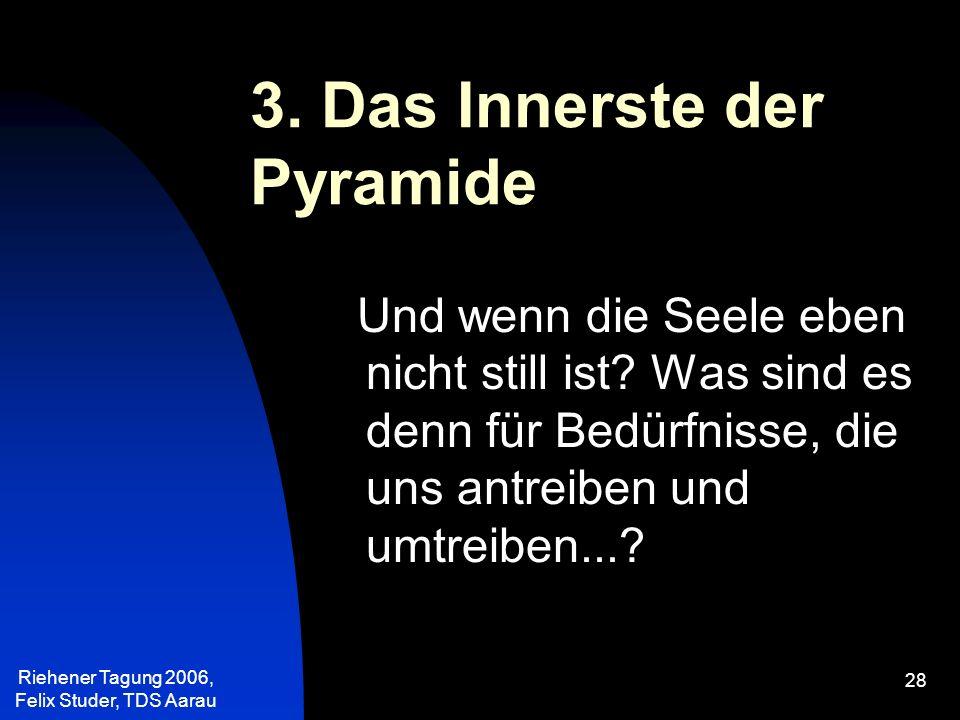 3. Das Innerste der Pyramide