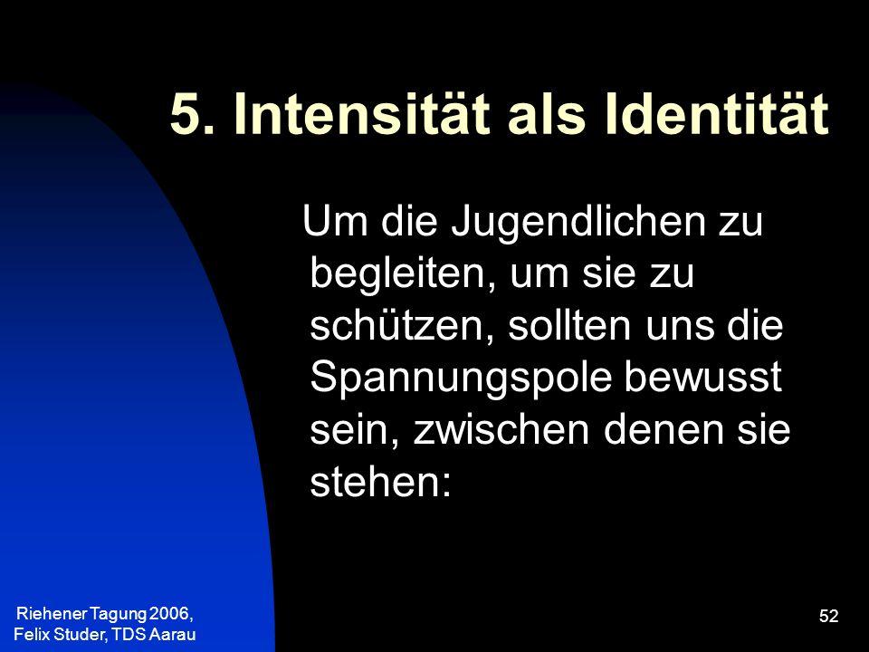 5. Intensität als Identität
