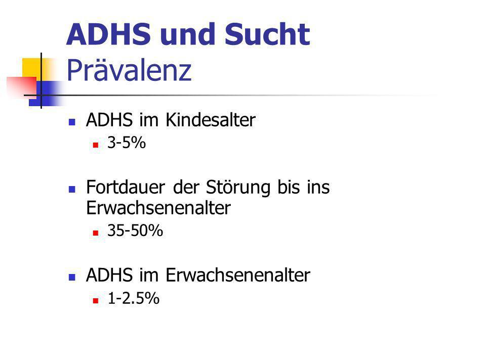 ADHS und Sucht Prävalenz