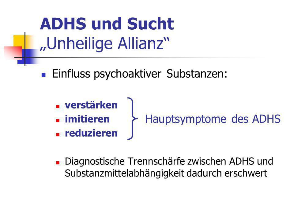"""ADHS und Sucht """"Unheilige Allianz"""