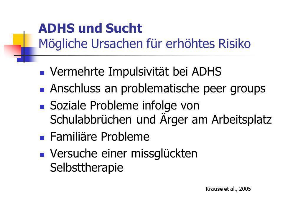 ADHS und Sucht Mögliche Ursachen für erhöhtes Risiko