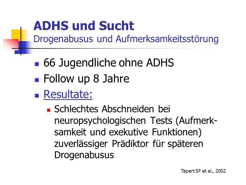 ADHS und Sucht Drogenabusus und Aufmerksamkeitsstörung
