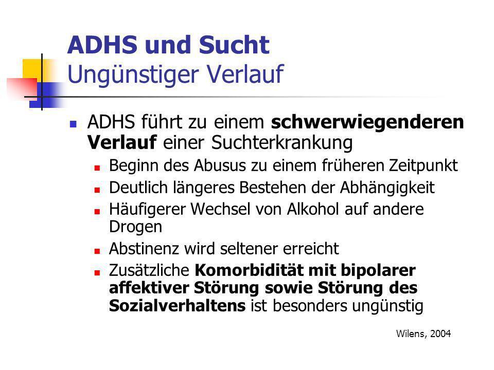 ADHS und Sucht Ungünstiger Verlauf