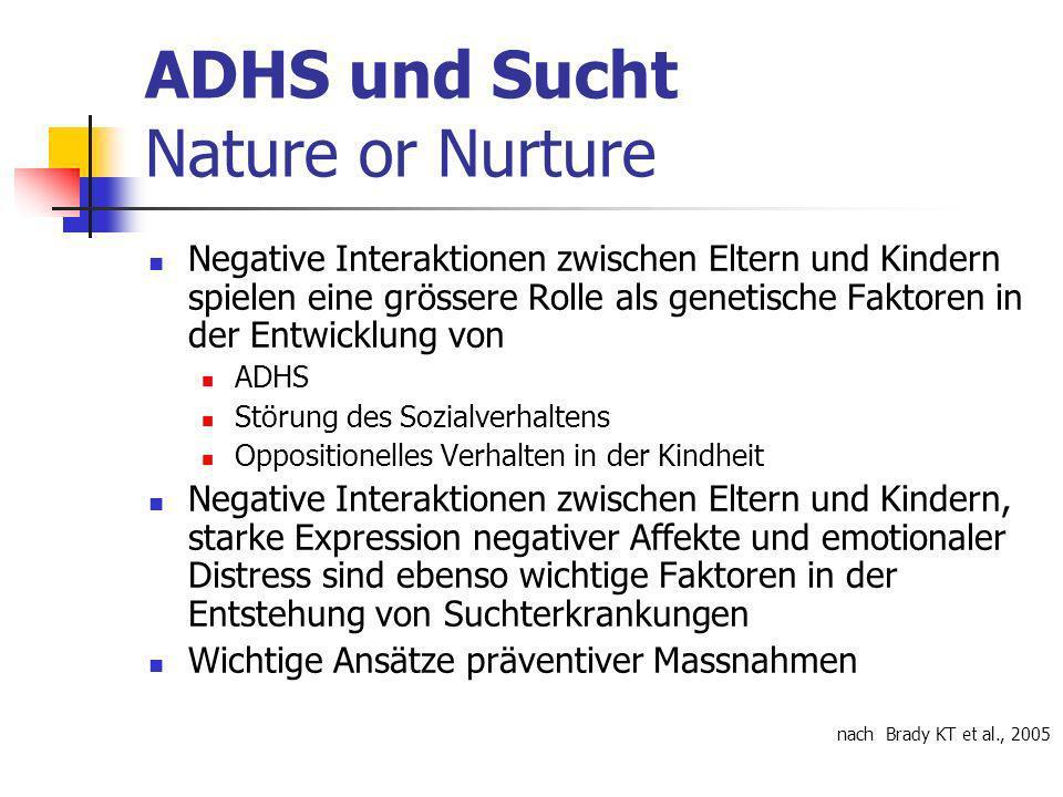 ADHS und Sucht Nature or Nurture