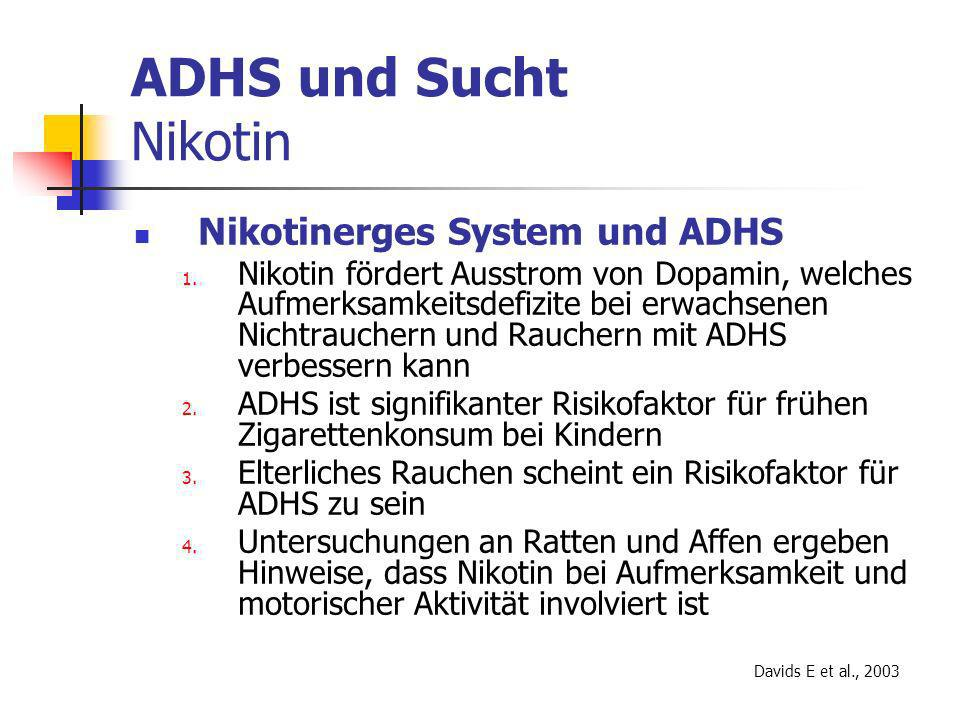 ADHS und Sucht Nikotin Nikotinerges System und ADHS