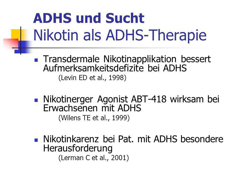 ADHS und Sucht Nikotin als ADHS-Therapie