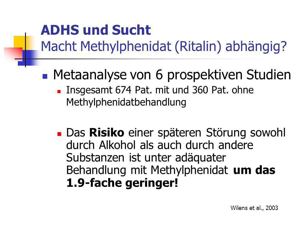 ADHS und Sucht Macht Methylphenidat (Ritalin) abhängig