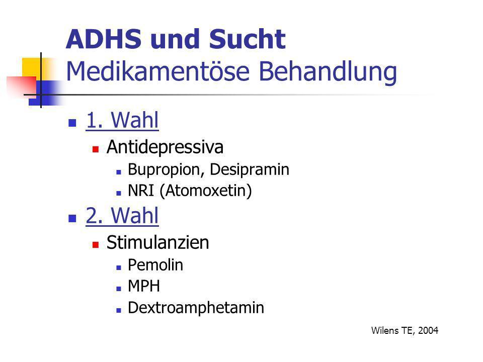 ADHS und Sucht Medikamentöse Behandlung