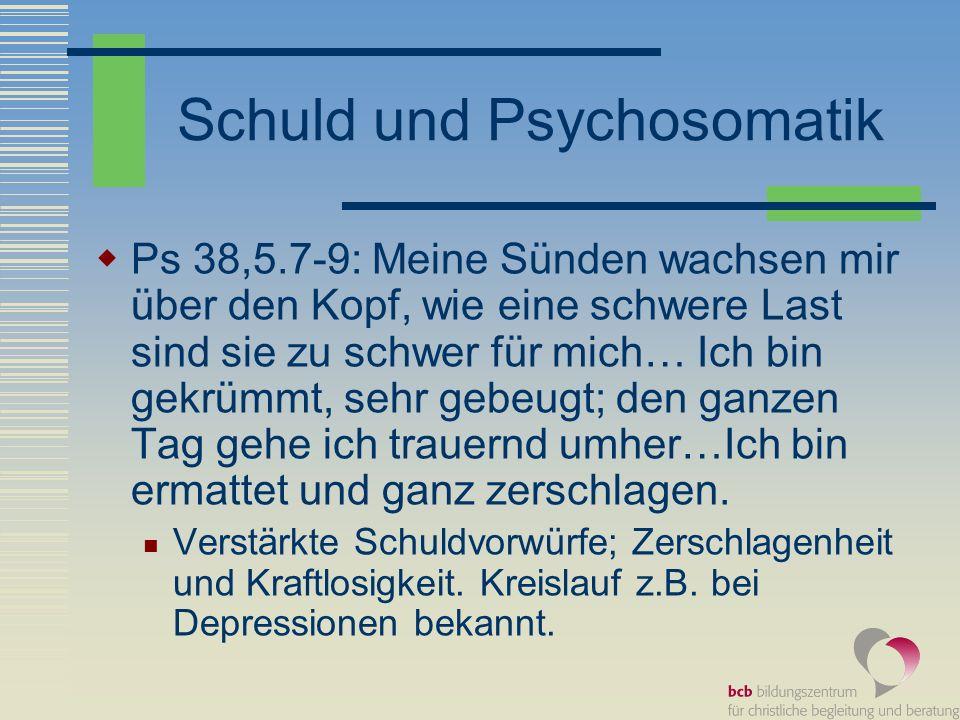 Schuld und Psychosomatik