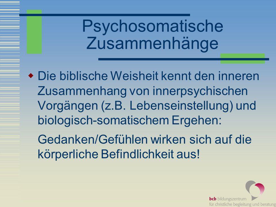 Psychosomatische Zusammenhänge