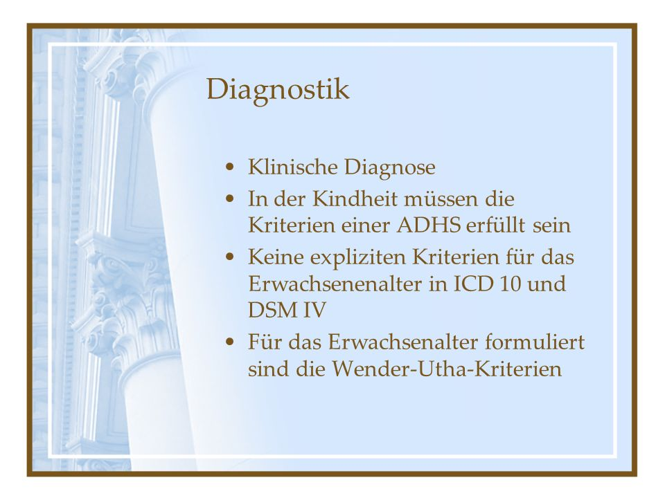 Diagnostik Klinische Diagnose