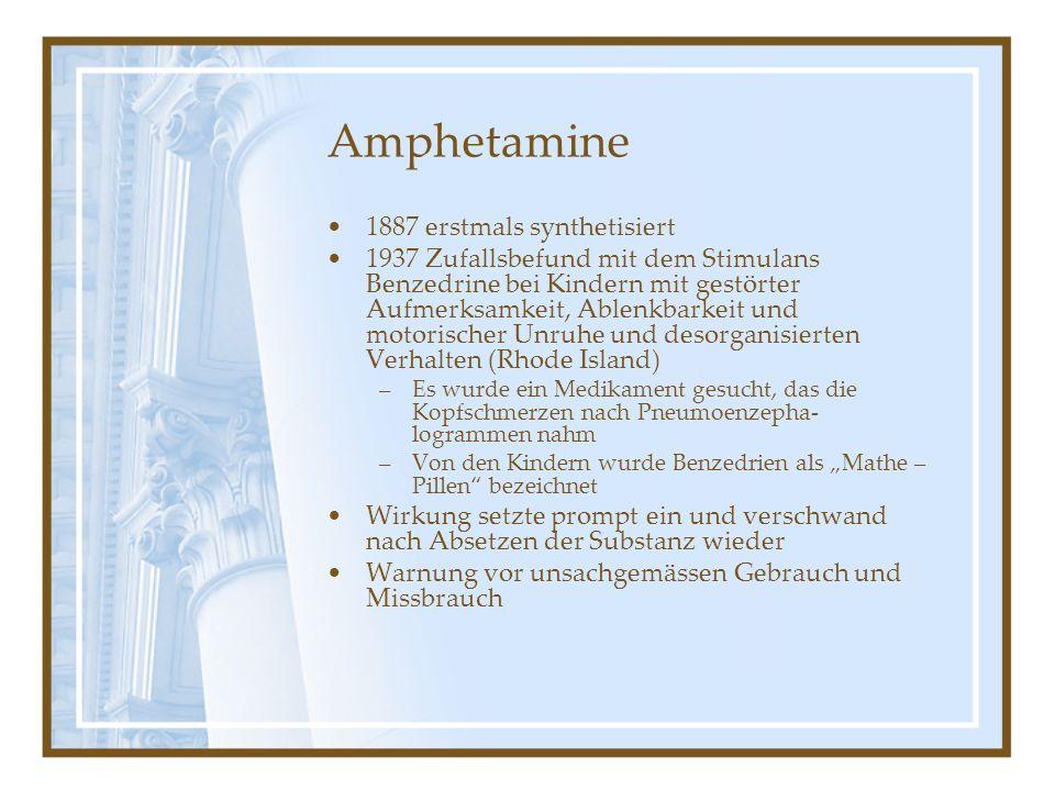 Amphetamine 1887 erstmals synthetisiert