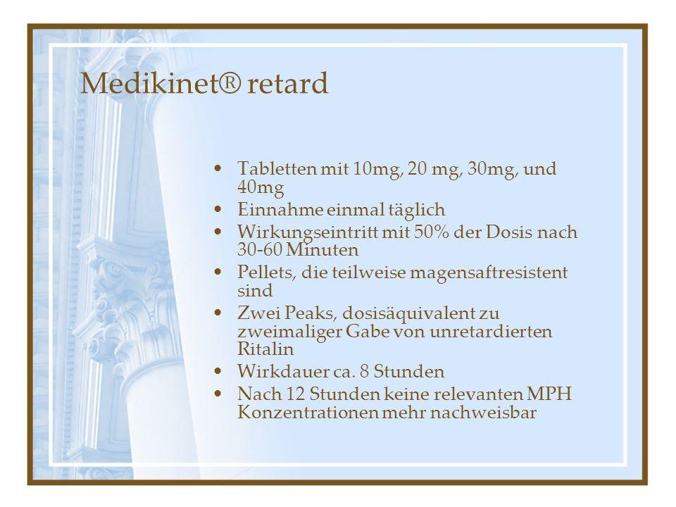 Medikinet® retard Tabletten mit 10mg, 20 mg, 30mg, und 40mg