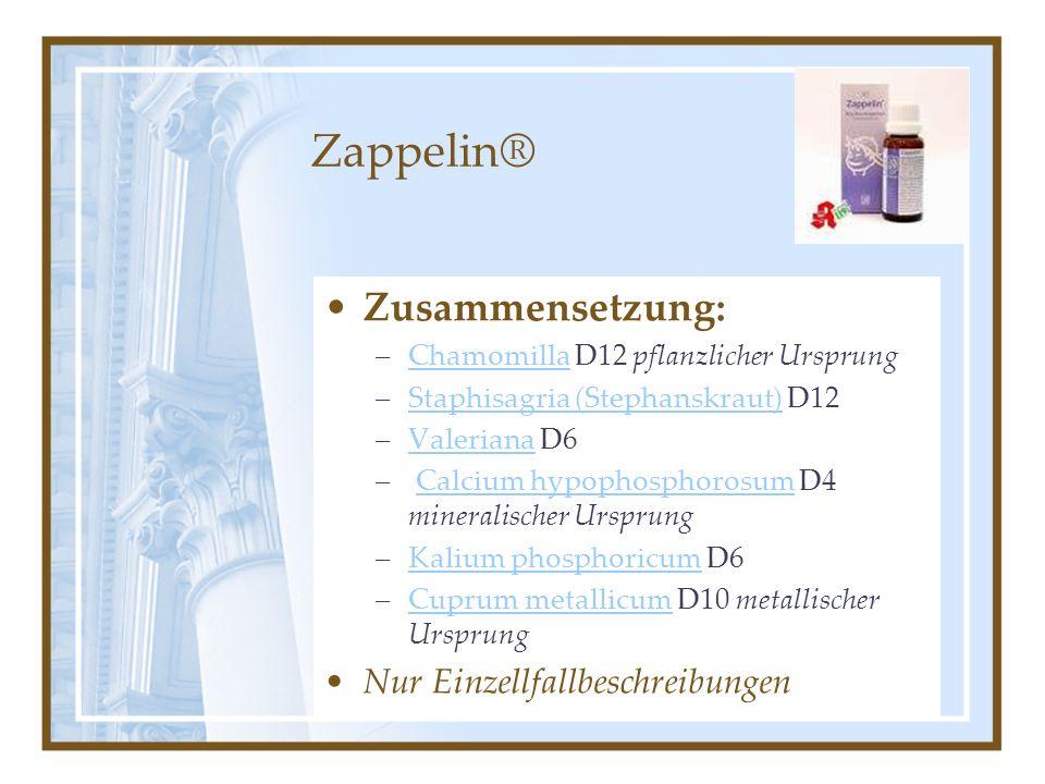 Zappelin® Zusammensetzung: Nur Einzellfallbeschreibungen