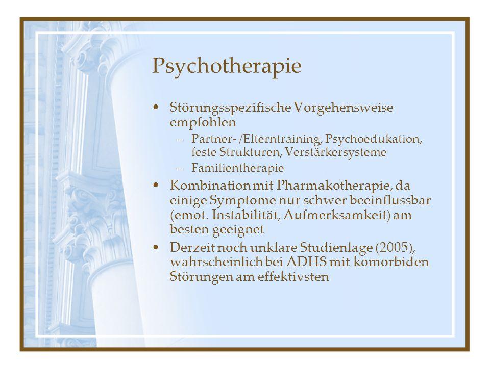 Psychotherapie Störungsspezifische Vorgehensweise empfohlen
