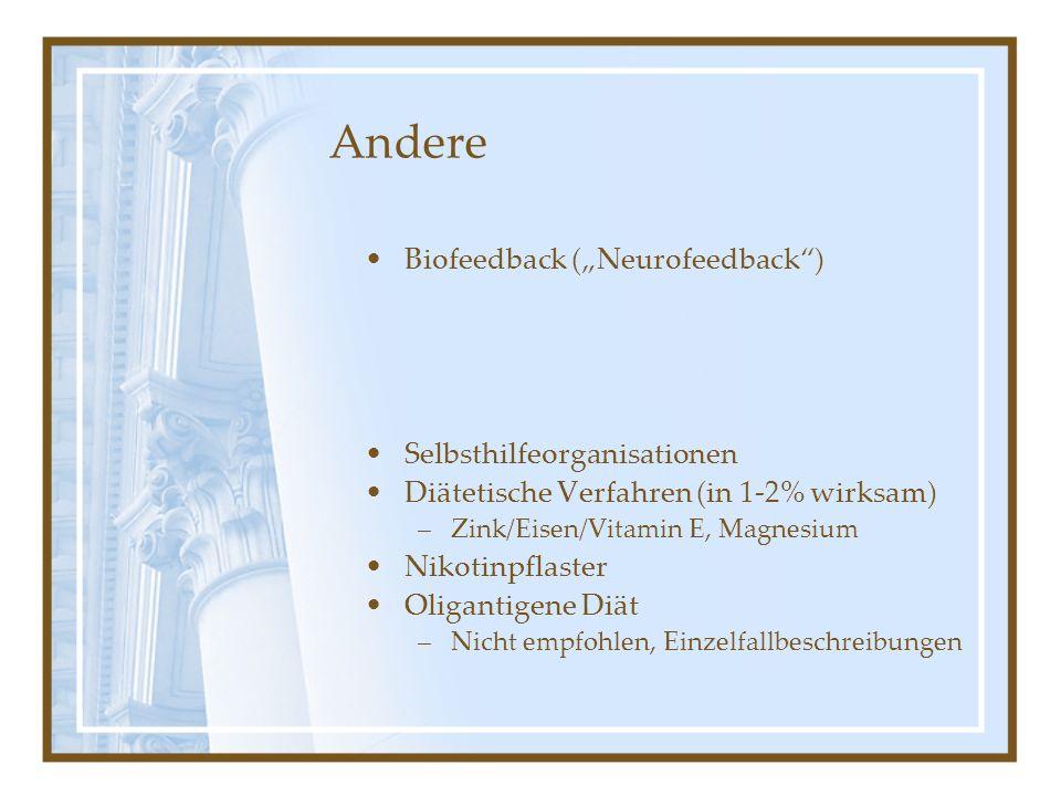 "Andere Biofeedback (""Neurofeedback ) Selbsthilfeorganisationen"