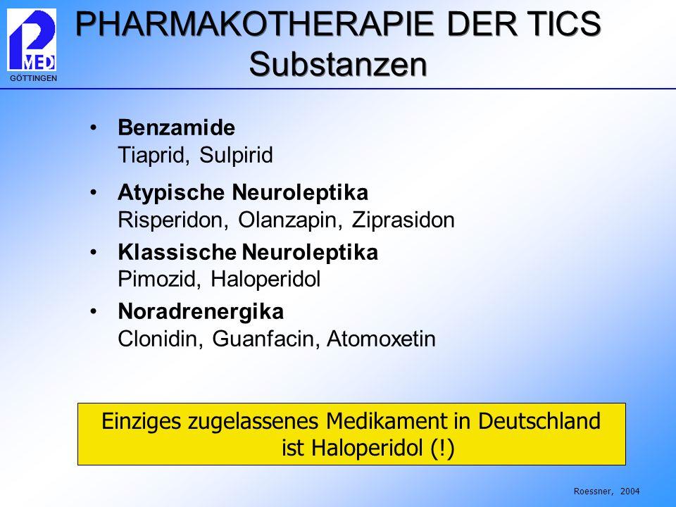 PHARMAKOTHERAPIE DER TICS Substanzen