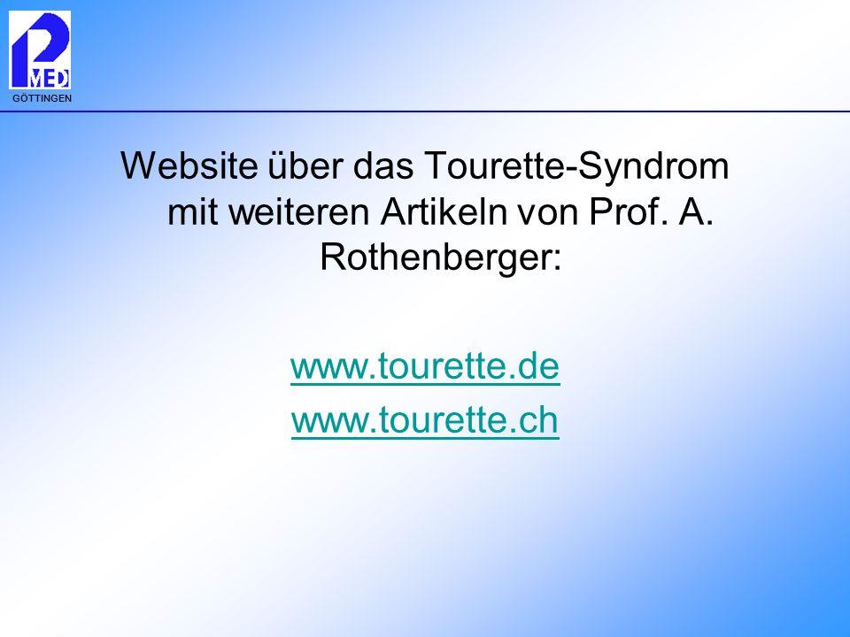 Website über das Tourette-Syndrom mit weiteren Artikeln von Prof. A
