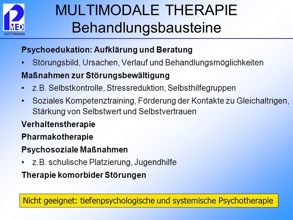 MULTIMODALE THERAPIE Behandlungsbausteine