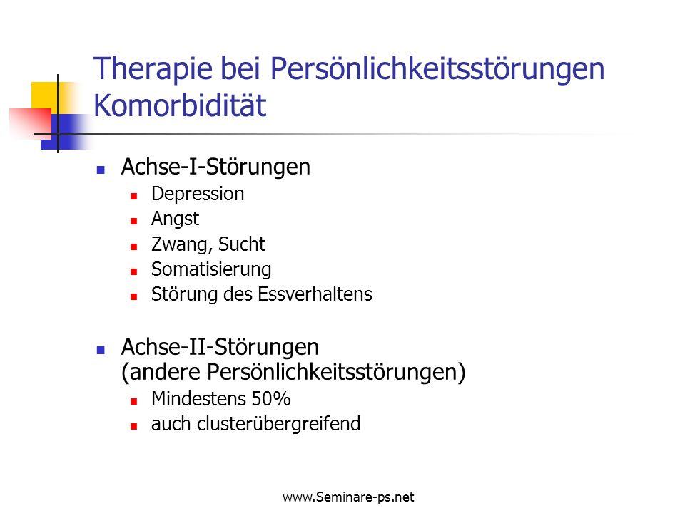 Therapie bei Persönlichkeitsstörungen Komorbidität