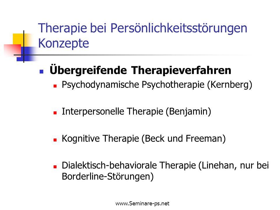 Therapie bei Persönlichkeitsstörungen Konzepte