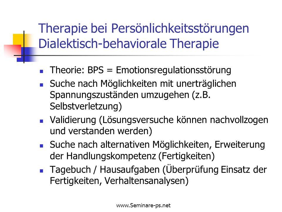 Therapie bei Persönlichkeitsstörungen Dialektisch-behaviorale Therapie