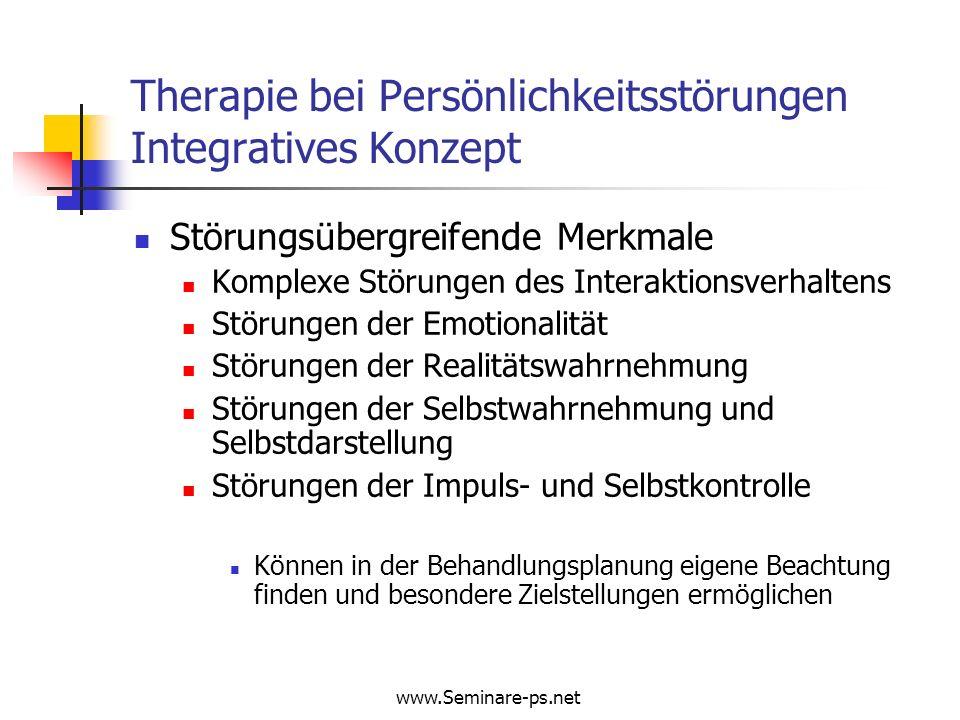Therapie bei Persönlichkeitsstörungen Integratives Konzept