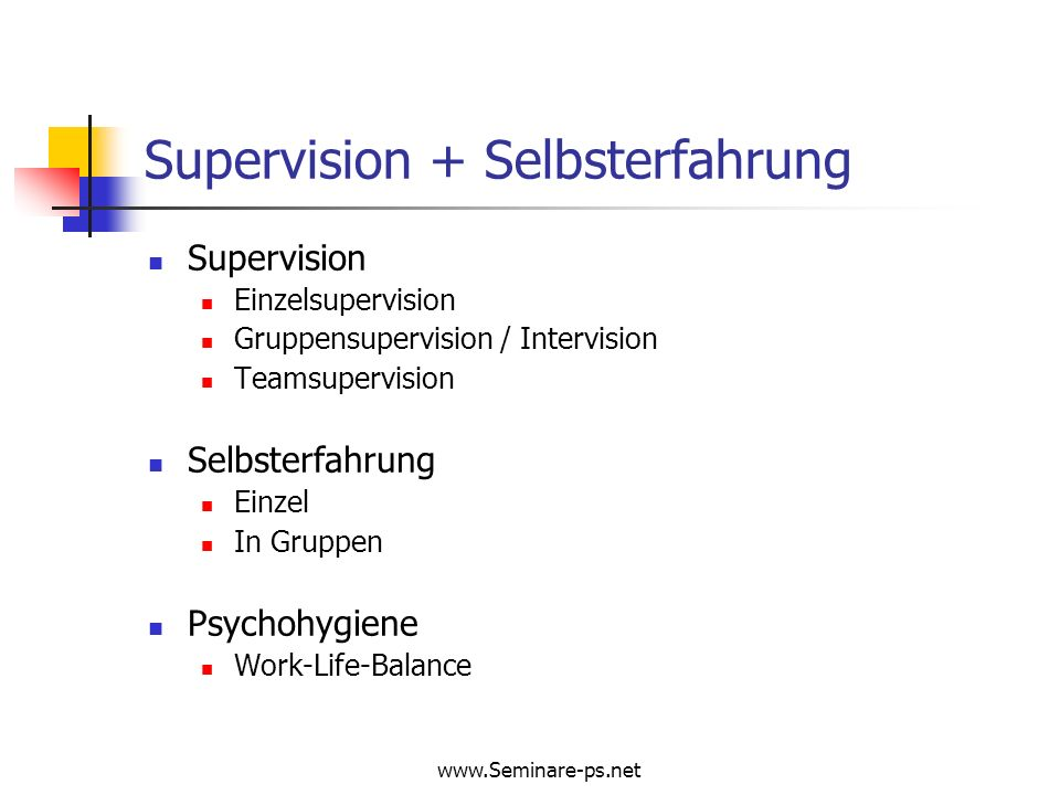Supervision + Selbsterfahrung