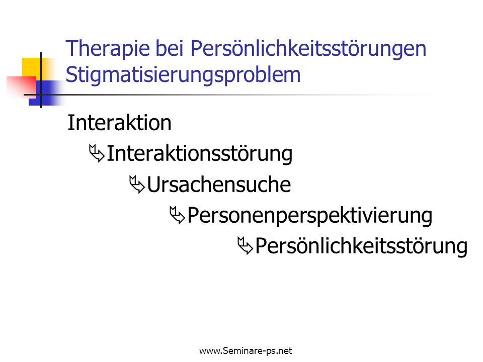 Therapie bei Persönlichkeitsstörungen Stigmatisierungsproblem