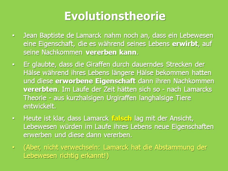 Evolutionstheorie