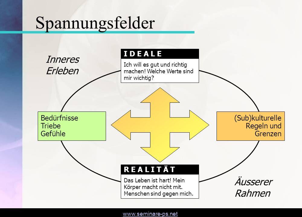 Spannungsfelder Inneres Erleben Äusserer Rahmen I D E A L E