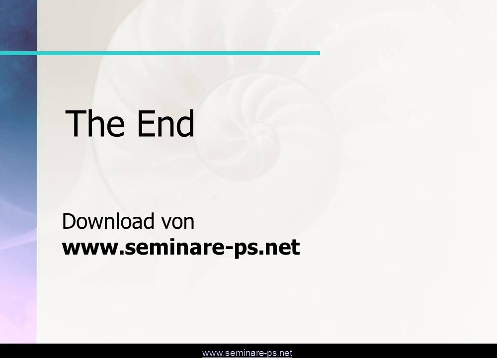 The End Download von www.seminare-ps.net