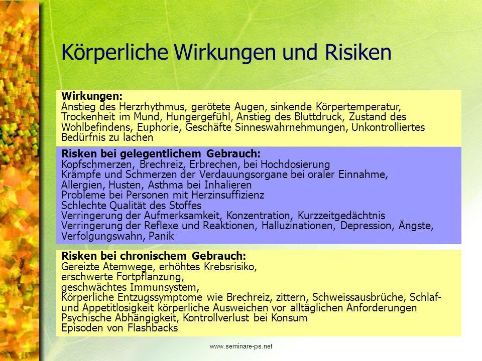 Körperliche Wirkungen und Risiken