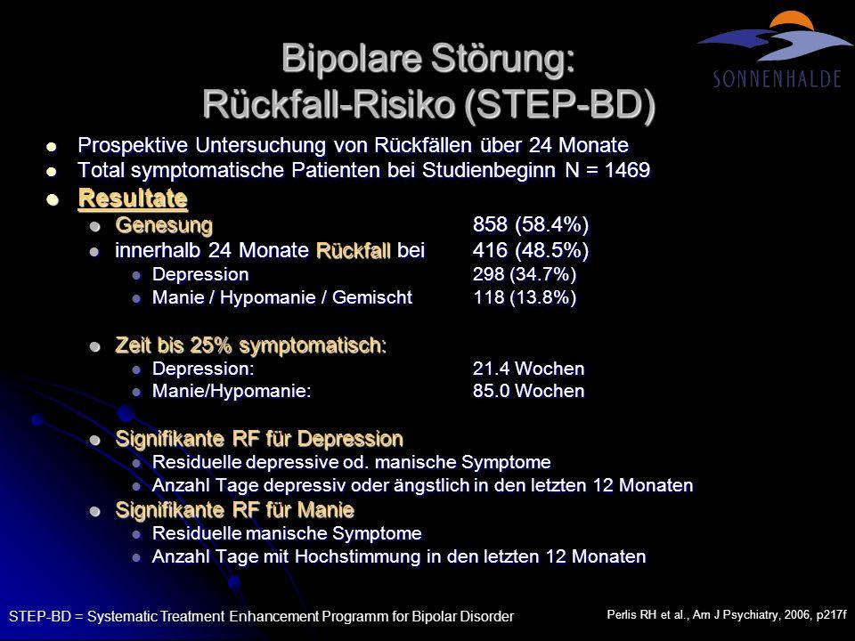 Bipolare Störung: Rückfall-Risiko (STEP-BD)
