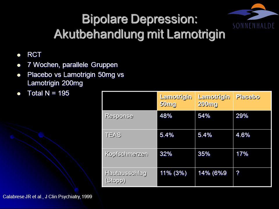 Bipolare Depression: Akutbehandlung mit Lamotrigin