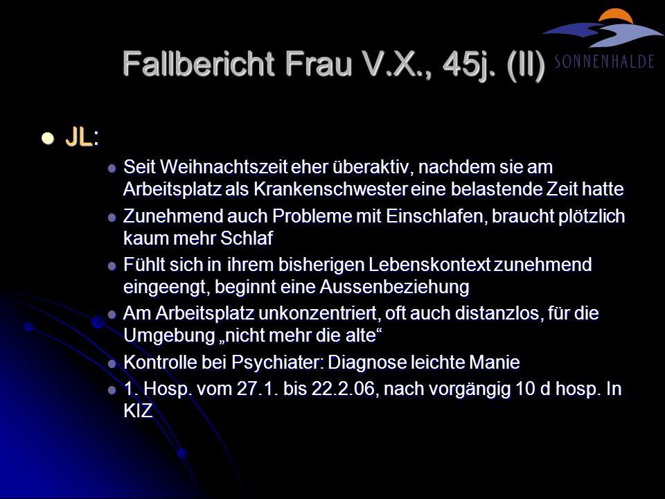 Fallbericht Frau V.X., 45j. (II)