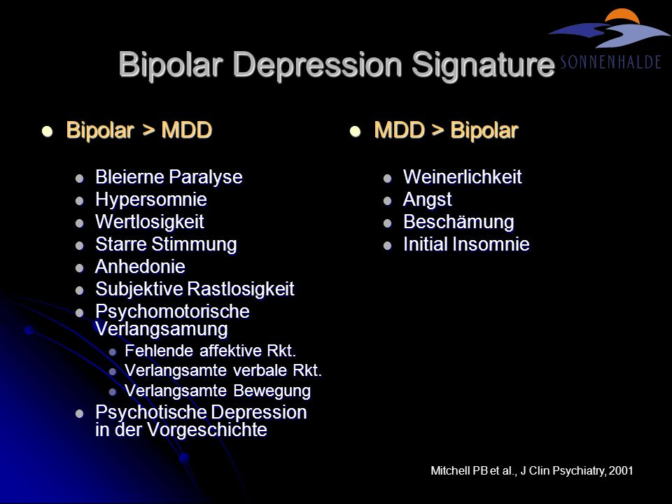 Bipolar Depression Signature