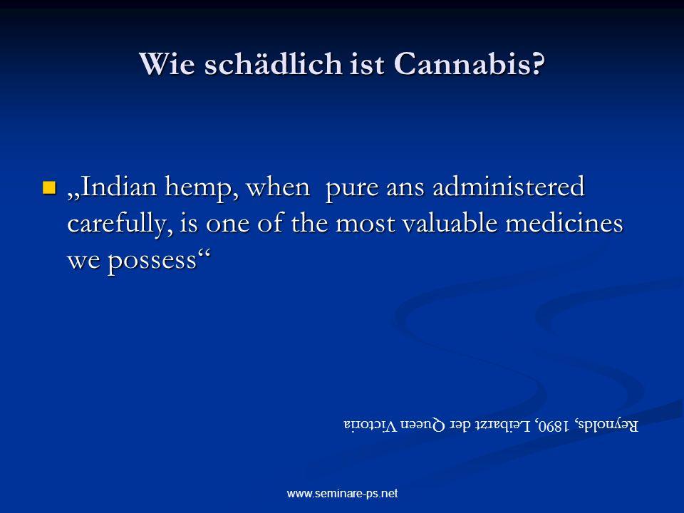 Wie schädlich ist Cannabis