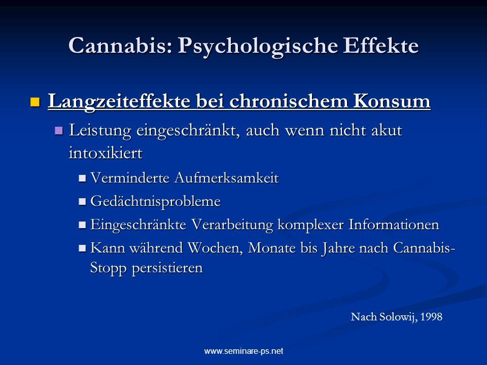 Cannabis: Psychologische Effekte