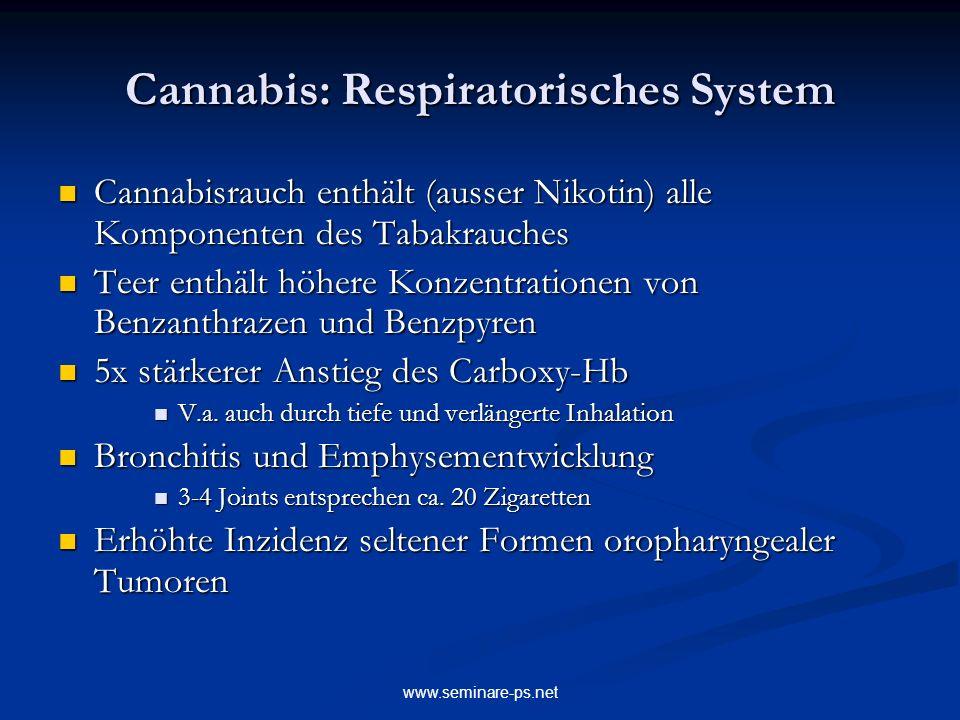 Cannabis: Respiratorisches System